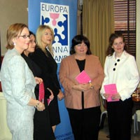 Minister for Health and Children, Mary Harney, launched Europa Donna Ireland's latest publication - Breast Cancer and Fertility