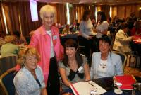 Judy Caldwell with Conference participants