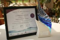 Crystal Clear Trophy and Cert