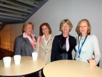 Nicole Zernik (France), Stella Kyriakides (Cyprus), Susan Knox (Executive Director) & Christine Murphy-Whyte