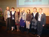 (L-R) Christine with Board members from Ukraine, Turkey, Holland, Switzerland, Luxembourg & Sweden