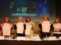 EUROPA DONNA Presidents with t-shirts
