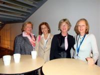 Nicole Zernik (France), Stella Kyriakides (Cyprus), Susan Knox (Executive Director) & Christine Murphy-Whyte